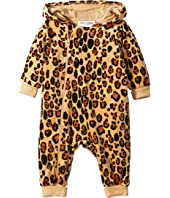 mini rodini - Leopard Velour One-Piece (Infant)