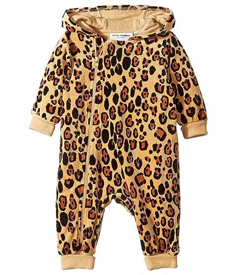 mini rodini Leopard Velour One-Piece (Infant)