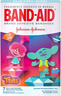 Band-Aid Brand Adhesive Bandages for Minor Cuts and Scrapes, DreamWorks Trolls for Kids, Extra Large, 7 ct