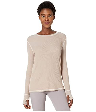 Mod-o-doc Thermal Long Sleeve Tee with Thumb-Holes (Pebble) Women