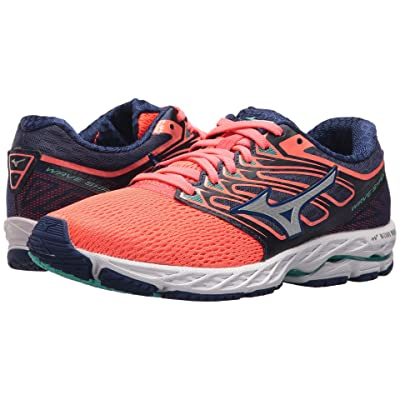 Mizuno Wave Shadow (Fiery Coral/White) Girls Shoes