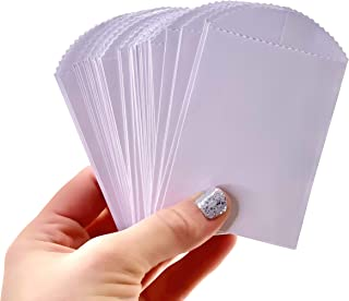 """50 Mini White Paper Bags - 4"""" x 2.5"""" DIY Craft Supplies Cutlery Bag Party Favor"""