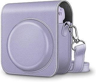 Fintie Case Tas voor Fujifilm Instax Mini 11 Camera - Premium Kunstleer Cameratassen Cover met Afneembare Regenboog Schoud...