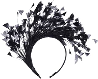 black fascinator feather