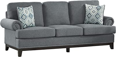 Amazon.com: Coaster Colton sofa-smokey Gris: Kitchen & Dining