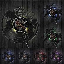 KDBWYC Retro Videospiel Gamepad Controller Vinyl Album Umfunktionierte Schallplattenuhr Jungen Spielzimmer Dekor Gaming Ar...