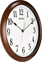 ساعة حائط من سيكو (41 سم × 41 سم × 5 سم، بني ، QXA598BN)