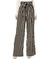 Paperbag Wide Leg in Midnight Navy/Gold/White Stripe