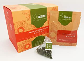 Green Pot Tea Jasmine Oolong Tea, 20 Count, (Pack of 20)
