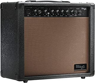 Stagg 20 AA R USA 20 Watt RMS Acoustic Guitar Amplifier with Spring Reverb