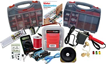 Ultimate Make: Electronics Kit Bundle - Includes All 3 Electronic Component Kits and Make: Electronics (2nd ED) Book by Charles Platt - STEM Electronics Science Education Set for Beginners Teen-Adult