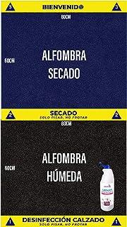 Cibol Alfombra desinfectante Entrada + (x2) Limpiador Higienizante, Felpudo Desinfectante, Calzado, Zapatos (80 x 60cm) Pack DE 4 Productos