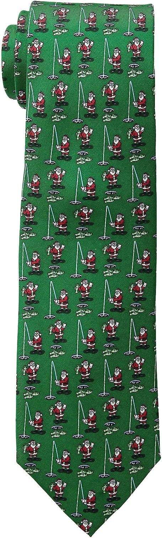Vineyard Vines Santa Ice Fishing Printed Tie