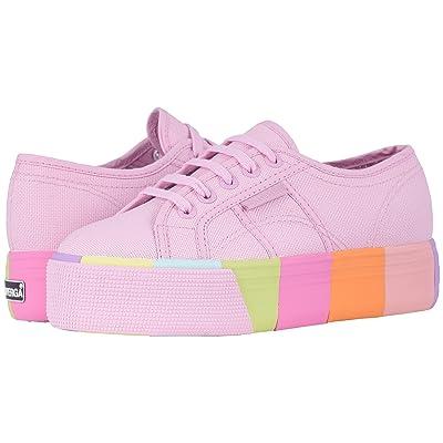 Superga 2790 Cotmultifoxing W Platform Sneaker (Pink Multi) Women