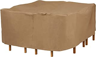 Duck Covers Essential Square Patio Table with Chairs Cover, 76-Inch