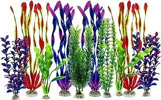 Lakobos Artificial Aquatic Plants, Large Aquarium Plants Plastic Fish Tank Decorations, Vivid Simulation Plant Creature Aq...