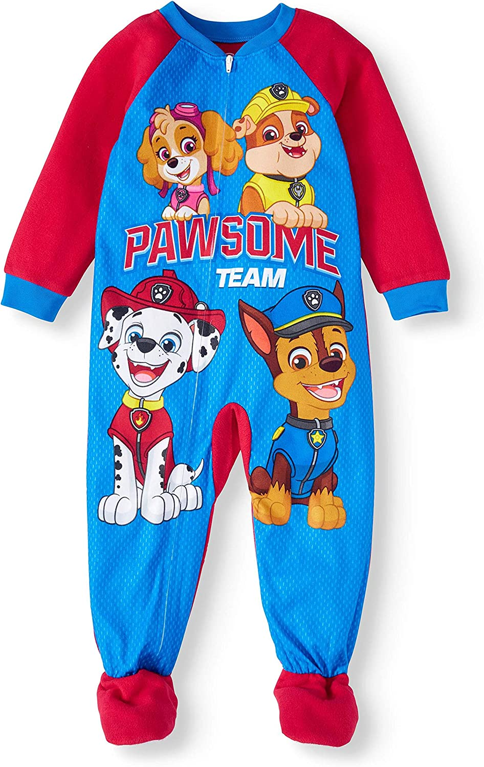 Boys Paw Patrol Chase Onesie Pyjamas All in One Fleece with Hood