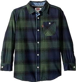 Long Sleeve Woven Shirt (Little Kids)
