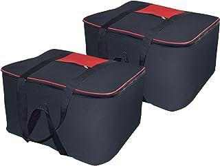 Storite Nylon large size Underbed Storage Bag (54 x 46 x 28 cm) - Black-2 Pack