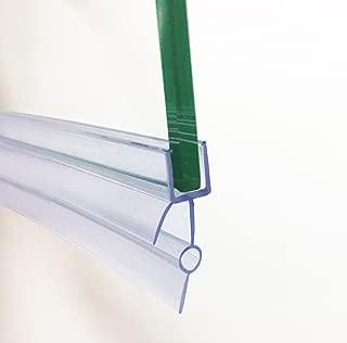 Soporte de goma de plástico HNNHOME, para mampara de baño o de ducha o puerta de cristal, de 4-6 mm; sellado transparente, 87 cm de largo, con agujero de 16 a 22 mm