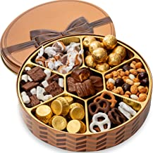 BONNIE AND POP - Nuts and Chocolate Gift Basket For Women and Men - Holiday Gift Basket - Gourmet Food Gifts Prime - Christmas Holiday Gifts - Corporate, Sympathy, Birthday