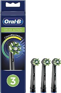 Oral-B CrossAction wymienne głowice do elektrycznej szczoteczki do zębów Black Edition z technologią CleanMaximiser, 3 sztuki