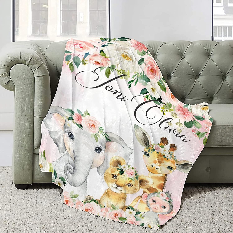 Nichiren Elephant Super Soft Blanket Lightweight Great interest Surprise price Plush Flannel
