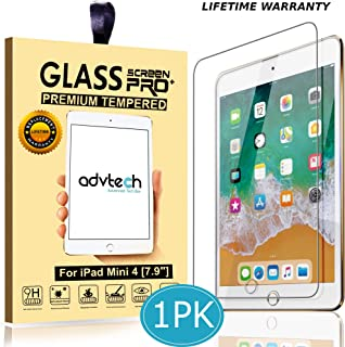 ADVTECH iPad Mini 4 Screen Protector [2.5D Curved Edges] Tempered Glass [99% HD Clarity] 0.33mm Ultra Thin [6X Stronger] for Apple iPad 7.9 inch [9H Hardened Tempered Glass]