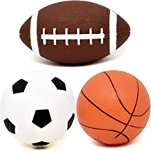 Number 1 in Gadgets Set of 3 Sports Balls for Kids, Mini Sport Pack Includes Football, Soccer & Basketball for Soft Indoor & Outdoor Play Great for Toddlers & Little Hands