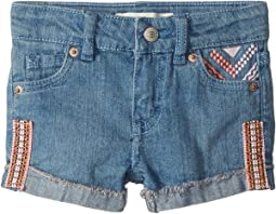 Embroidered Shorty Shorts (Big Kids)