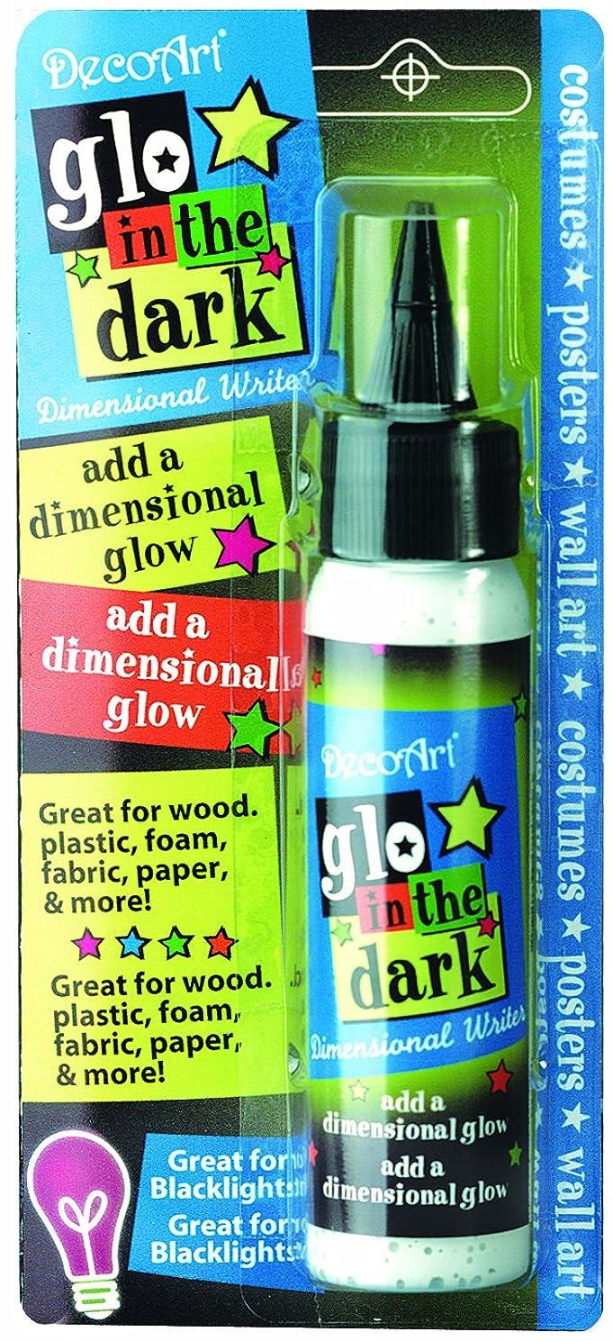 DecoArt DS76C-3 Glow in The Dark Dimensional Writer, Multicolor