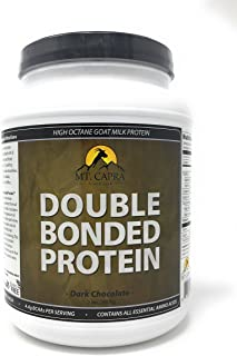 MT. CAPRA SINCE 1928 Double Bonded Protein | Whole Goat Milk Protein with Natural Blend of Casein and Whey from Grass-fed Pastured Goats, Dark Chocolate Flavor - 2 Pounds
