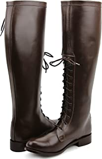 FAMMZ Dyno Men's Man Motorcycle Riding Police Patrol Fashion Leather Tall Riding Boots