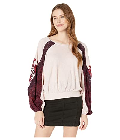 Free People Casual Clash Top (Rose) Women