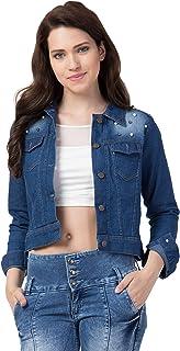 FUNDAY FASHION Self Design Stone Women Denim Jacket…