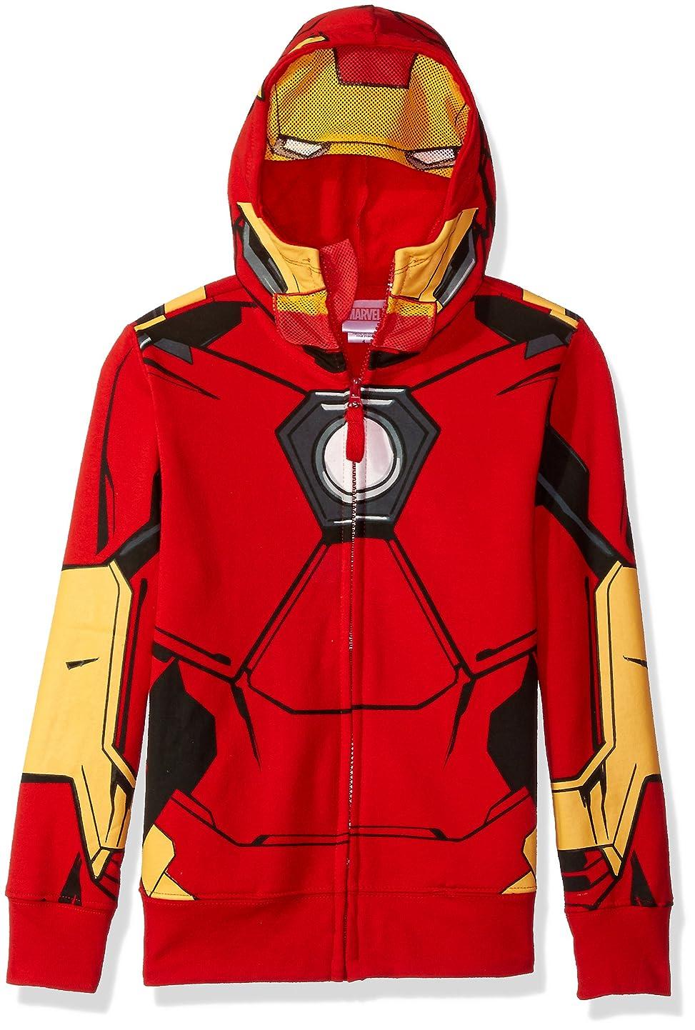 Marvel Boys' Iron Man Costume Zip-up Hoodie fbqiiiwtgui0