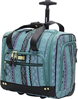 Steve Madden Designer 15 Inch Carry on Suitcase- Small Weekender Overnight Business Travel Luggage- Lightweight 2- Rolling...