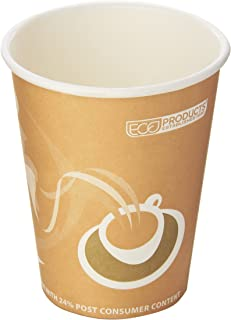 Eco-Products ECOEPBRHC8EWPK Evolution World PCF Hot Cups, Assorted (Pack of 50)