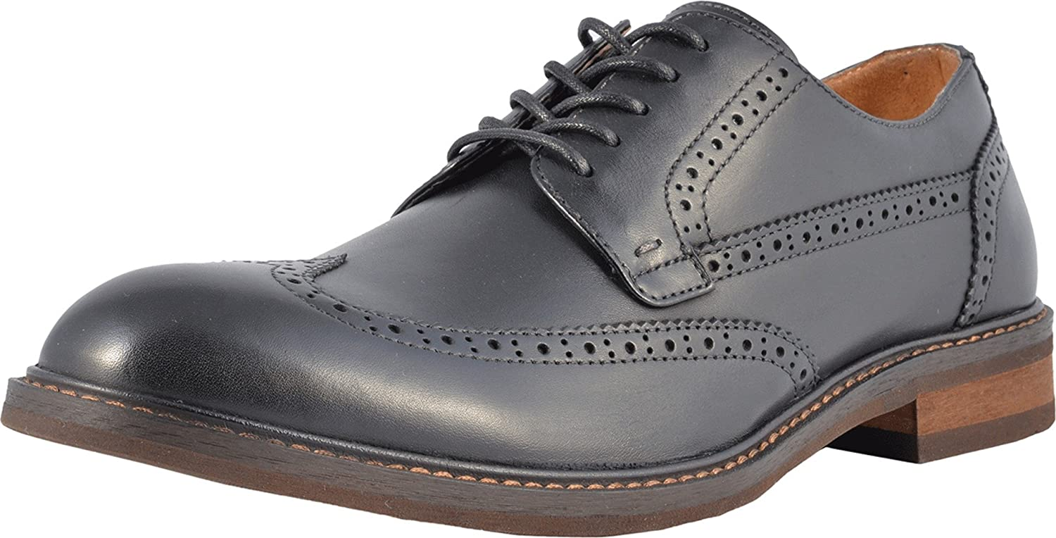 Vionic Men's Bowery Bruno Oxford Shoes – Leather Shoes for Men with Concealed Orthotic Support