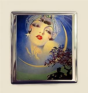Art Deco Gypsy Cigarette Case Business Card ID Holder Wallet Flapper Boho Bohemian Moon