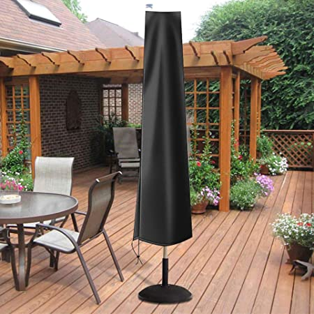 3 Options for 7 to 11 Foot Standard or Offset Umbrellas Off Center Cantilever Umbrella Cover, Aspen Green Heavy Duty Weatherproof Fabric Premium Tight Weave Outdoor Patio Umbrella Cover