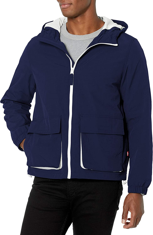 70% OFF Outlet Levi's half Men's Nylon Taslan Jacket Windbreaker Hooded