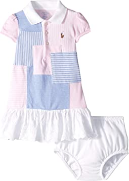 Patchwork Polo Dress & Bloomer (Infant)