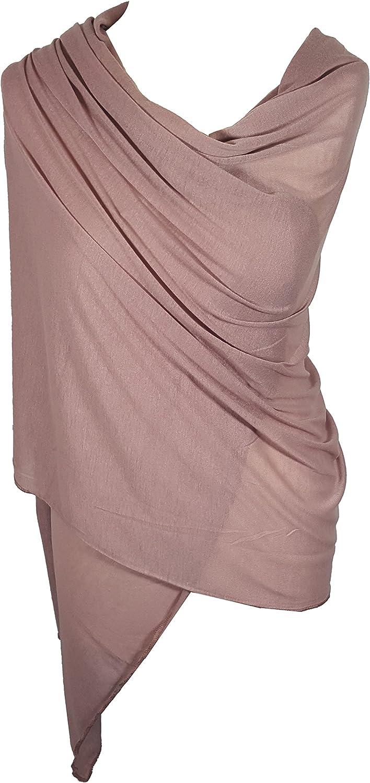 Ladies Jersey Scarf Wrap Stole Warm Soft Stretchy