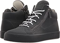 Giuseppe Zanotti May London Mid Top Flocked Sneaker