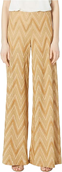 Tone On Tone Chevron Wide Leg Pants