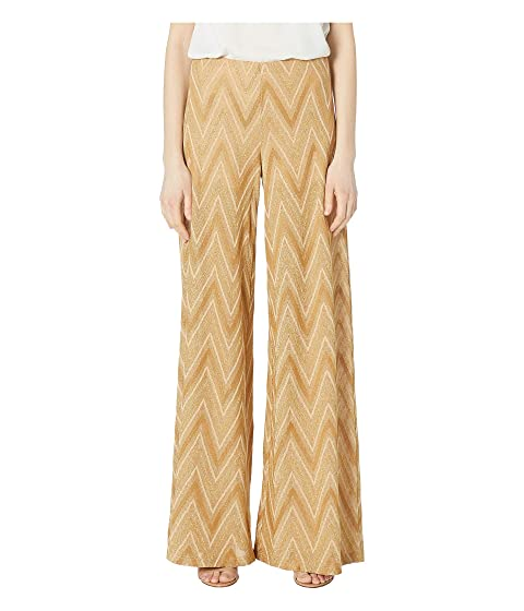 M Missoni Tone On Tone Chevron Wide Leg Pants