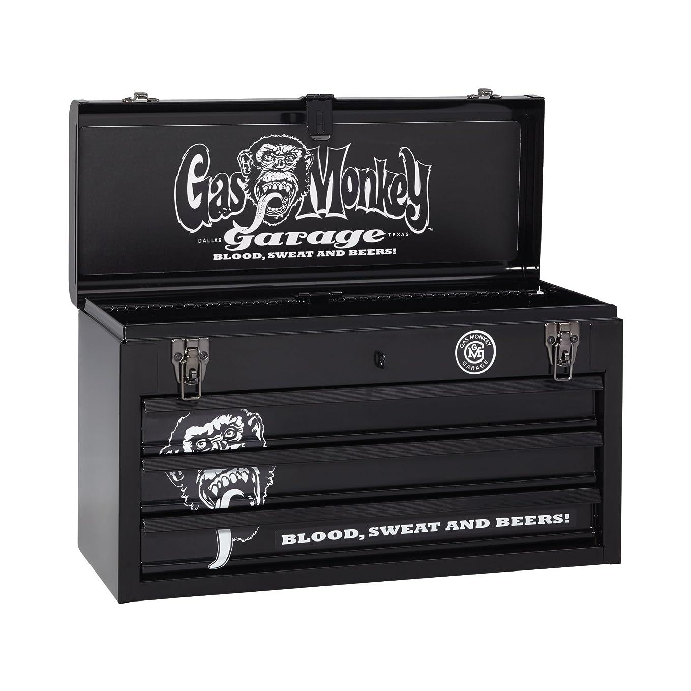 逆兄弟愛滅びるGas Monkey Garage GMGP20X3 3-Drawer Metal Portable Tool Chest, 20.5