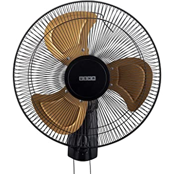 usha Colossus Rust Free Aluminium Blade 400mm Wall Fan (Golden)