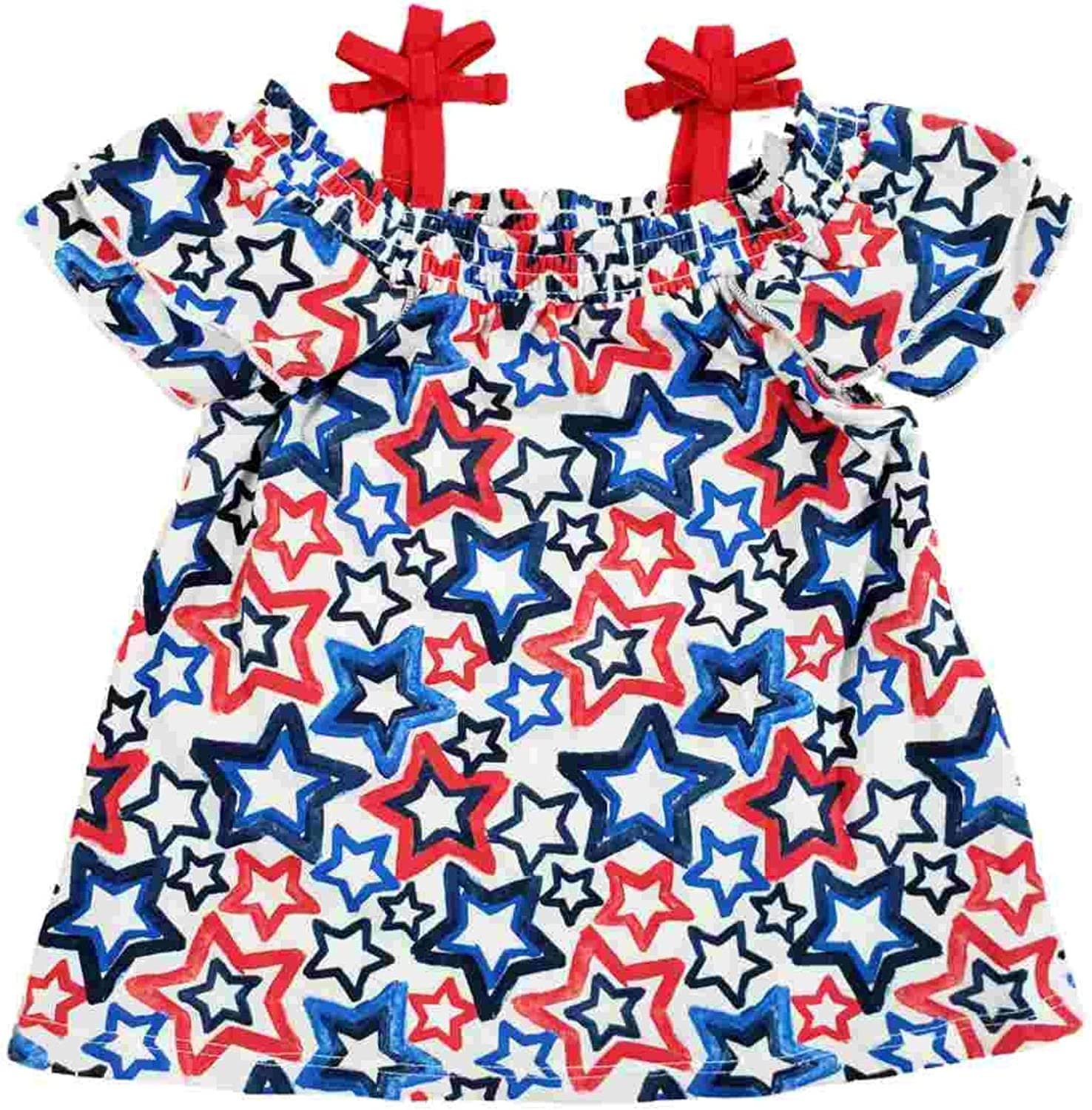 Celebrate Toddler Girls Red Luxury White Patriotic Cold Blue price Star Shoul